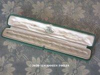 19世紀 アンティーク 本革製 ジュエリーボックス  ブレスレット用 ダークグリーン