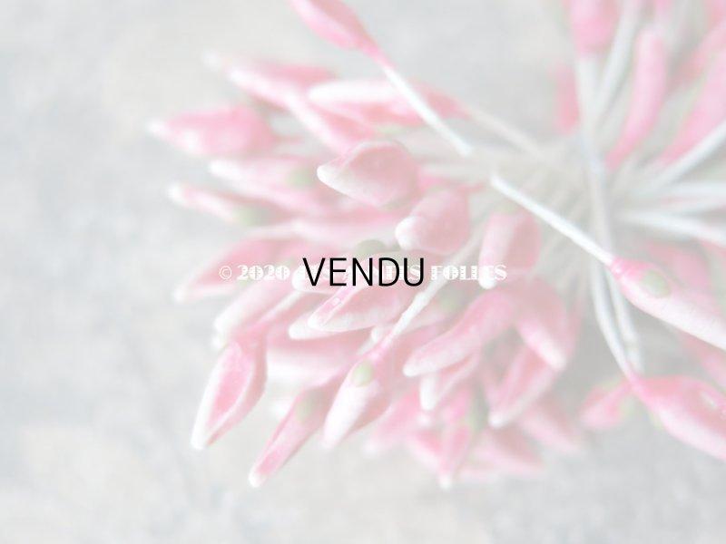 画像3: アンティーク ペップ コサージュ用 蕾 花芯 ローズピンク セラミック