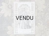 アンティーク  初聖体のカニヴェ  ホーリーカード コミュ二オンの少女 レースの透かし模様