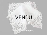 アンティーク 薔薇模様 ポワンドガーズ & デュシェス 結婚式のハンカチ 【ポワン・ド・ガーズ】