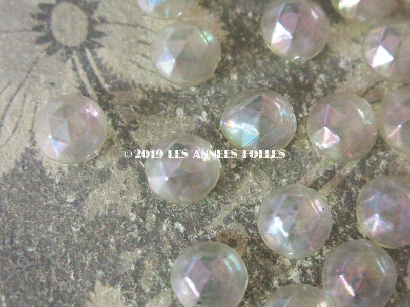画像2: 1920年代 アンティーク 吹きガラス製 ビーズ オーロラ加工 大粒13mm スフレビーズ  40ピースのセット