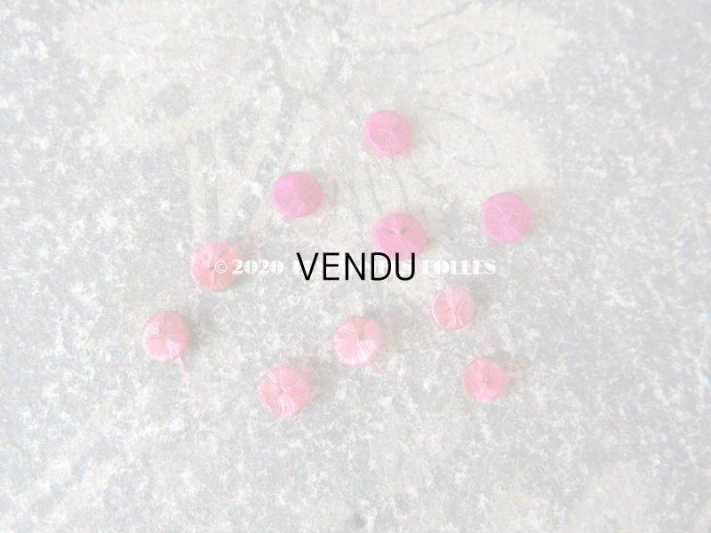画像2: アンティーク ドール用 シルク製 くるみボタン 極小 4.5〜5.5mm ピンク 10ピースのセット