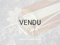 アンティーク  リボン刺繍 & ロココトリム用 シルク製 リボン 3mm幅 淡いグリーン 3.9m