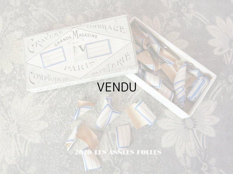 画像1: アンティーク メルスリーの小さなラベル オリジナルの箱入り ルーブル百貨店 - GRANDS MAGASINS DU LOUVRE -