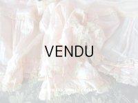 1900年代 アンティーク  ドレスの裾 パウダーピンクのシルクサテン&レース  1.3m
