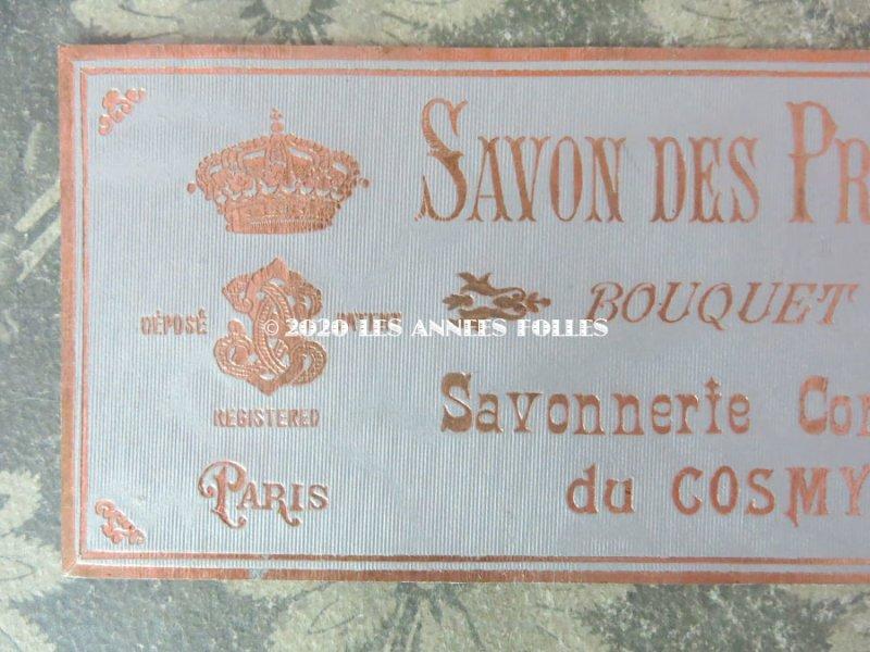 画像2: アンティーク 薔薇のソープラベル SAVON DES PRINCESSES BOUQUET ROSE - COSMYDOR PARIS -