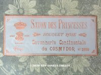 アンティーク 薔薇のソープラベル SAVON DES PRINCESSES BOUQUET ROSE - COSMYDOR PARIS -