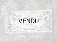 アンティーク ソープラベル SAVON LIZALINE AUX FLEURS DE NICE - BOITEL&LOURDIN PARIS -