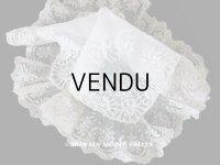 19世紀 アンティーク  結婚式のハンカチ 【JC】 ホワイトワーク & 手編みのヴァランシエンヌレース