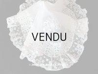 19世紀 アンティーク  結婚式のハンカチ 【MP】 ホワイトワーク & 手編みのヴァランシエンヌレース