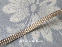 19世紀末 アンティーク  シルク糸&メタル糸 シャンパンゴールドのトリム 極細4mm幅 ストライプ柄 ブレード