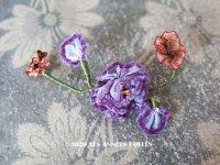 1920年代 アンティーク シルク製 ロココモチーフ 紫