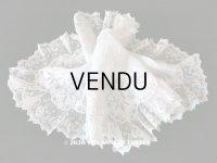 19世紀 アンティーク  結婚式のハンカチ 【MA】 ホワイトワーク & 手編みのヴァランシエンヌレース