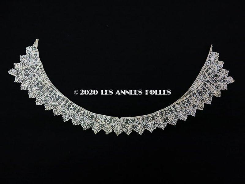 画像2: 19世紀末 アンティーク ポワンドガーズ 少女の付け襟 ニードルレース  『ポワン・ド・ガーズ』