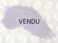 19世紀末 アンティーク フェザー 紫 羽飾り