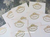 未使用 アンティーク 6枚セット メニューカード  MENU ルイ16世スタイル