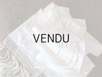 アンティーク ウェディングドレスの大きなシルクサテンのリボン オフホワイト 95.5×33cm