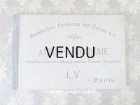 【クリスマスセール2020対象外】 アンティーク  刺繍図案帳 ALBUM DE BRODERIE - L.V. PARIS -