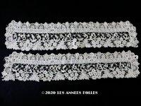 【クリスマスセール2020対象外】 19世紀末 アンティーク デュシェスレース 袖飾りのセット