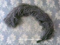 アンティーク フェザー チャコールグレー 羽飾り