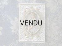1890年 アンティーク  手紙入り 洗礼式の記念 天使の装飾付き封筒 カニヴェ