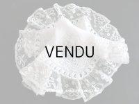 19世紀 アンティーク  結婚式のハンカチ 【MM】 鈴蘭のホワイトワーク & 手編みのヴァランシエンヌレース