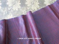 19世紀末 アンティーク  シルク & コットン製 ファブリック ピンストライプ 青&ボルドー