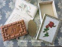 19世紀 アンティーク イニシャル入り ピンクの手帳 オリジナルボックス&レター&リーフ付き