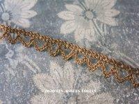 1900年代 アンティーク  メタル製 トリム ゴールド 2.4cm幅
