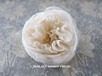 19世紀末 アンティーク 薔薇の布花 花嫁の花冠 オフホワイト
