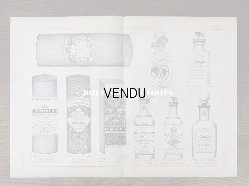 画像2: アンティーク パフュームリーのデザイン画  PLANCHE 10 - DELETTREZ PARIS -