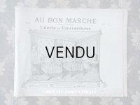 1910年 アンティーク ボンマルシェのカタログ ベッド&ベッドカバー LITERIE ET COUVERTURES - AU BON MARCHE - 淡いピスタチオグリーン