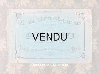 19世紀末 アンティーク SAJOU ダブルモノグラムの繍図案帳 ALBUM DE LETTRES ENTRELACEES N 507 - SAJOU PARIS -
