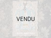 1900年代 アンティーク  初聖体のカニヴェ パウダーブルーのリボン