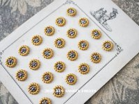 19世紀 アンティーク ドール用 カットスチールボタン 10mm ピース売り シルバー&ゴールド
