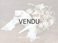 アンティーク 花嫁のブーケ 薔薇&鈴蘭&勿忘草のウェディングブーケ 結婚式
