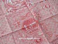 1900年代 アンティーク 天使&鳥&スフィンクス  コットン製ファブリック
