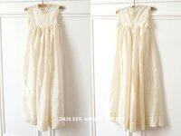 1900年代 アンティーク ベビードレス シルク製 オフホワイト 洗礼式のドレス