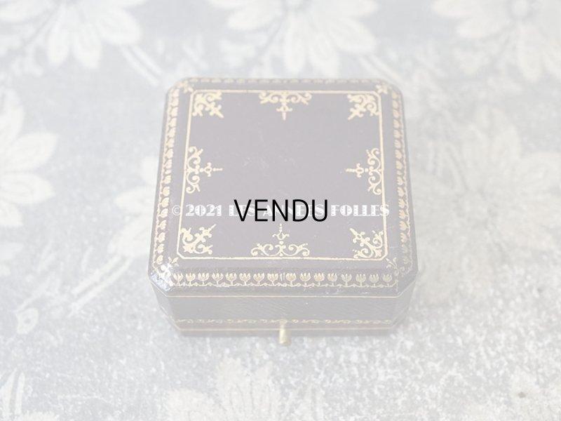 画像2: 【11周年セール対象外】 1900年代 アンティーク 金彩入り ジュエリーボックス ブローチ用 ダークブラウン