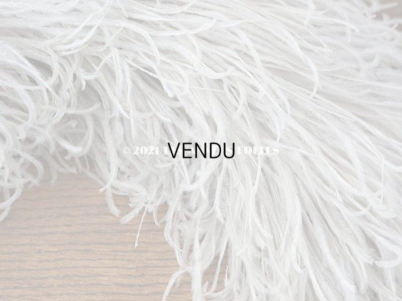 画像4: 【11周年セール対象外】 アンティーク フェザー ホワイトグレー 羽飾り