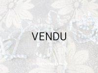 【11周年セール対象外】 1900年代 アンティーク シルク製 極細 リボン プリーツ加工 淡いブルー リボン刺繍用 170cm  3mm幅