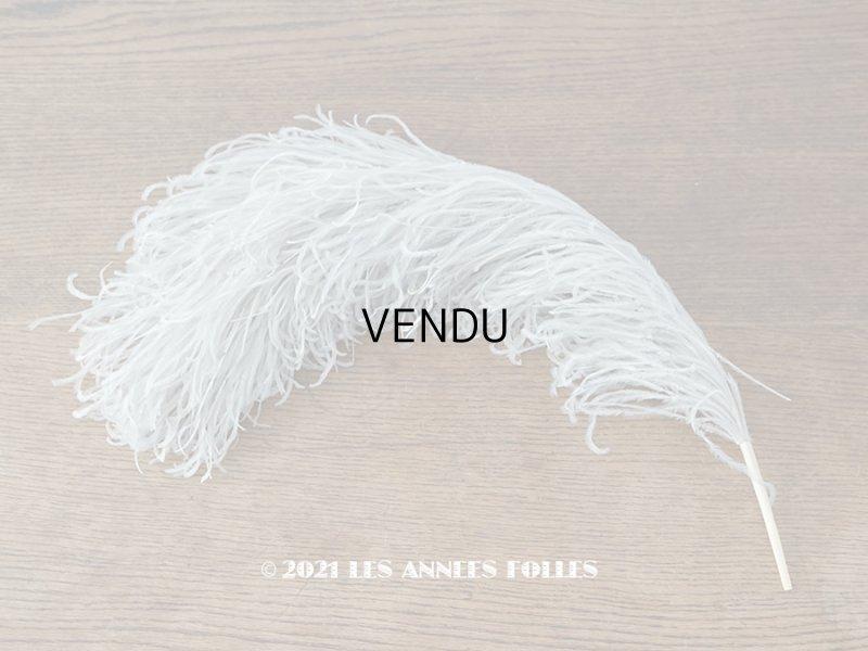画像1: 【11周年セール対象外】 アンティーク フェザー ホワイトグレー 羽飾り