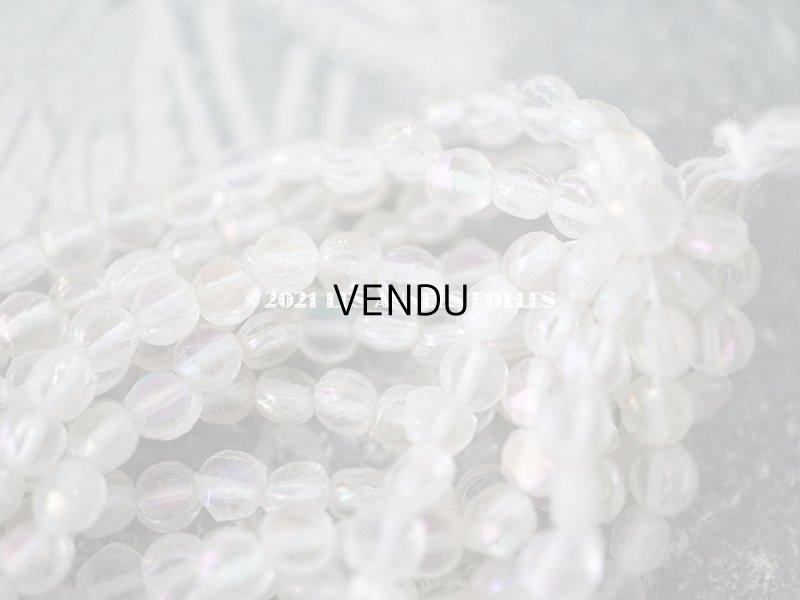 画像3: 【11周年セール対象外】 アンティーク ガラス製 ビーズ オーロラ加工  フラット・ラウンド 4mm  約260〜285ピース