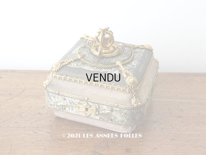 画像1: 【11周年セール対象外】 19世紀 アンティーク ナポレオン3世時代 お菓子箱 ハンドル付き チョコレートボックス 木箱
