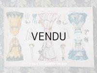 19世紀末 アンティーク 版画 着せ替え人形 ドール新聞の付録 LA POUPEE MODELE
