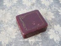 1900年代 アンティーク 本革製 鈴蘭のジュエリーボックス ボルドー