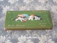 アンティーク ラングドシャのお菓子箱  LANGUES DE CHATS  - CHOCOLAT RADEMAKER  -