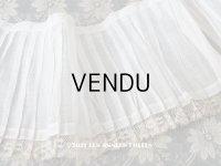 1900年代 アンティーク 幅広 ドレスの裾  レース付き & プリーツ入り 20.3cm幅 1.68m