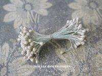 アンティーク ペップ 布花用 花芯 マーブル オリーブグリーン&ホワイト