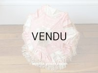 19世紀末 アンティーク  シルク製 ピンク&ホワイトグレーの日傘